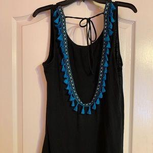 Blue Tassel swimsuit coverup